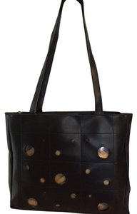 I Santi Leather Italian Tote in black