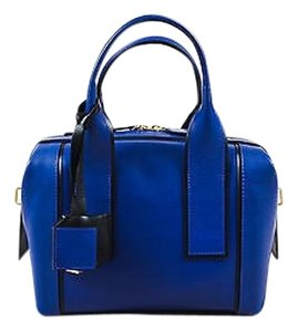 Pierre Hardy Black Satchel in Blue