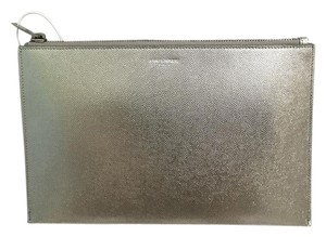 Saint Laurent Wallet Wallet Silver Clutch