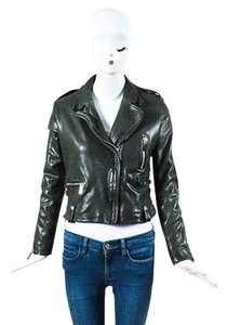 Barbara Bui Leather Green Jacket