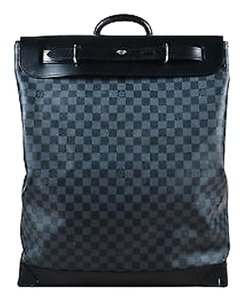 Louis Vuitton Damier Graphite Coated Canvas Leather Steamer Satchel in Black