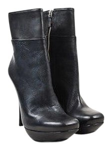 Lanvin Shw Leather Ankle Black Boots