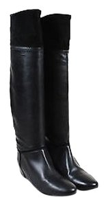 Lanvin Grained Leather Black Boots