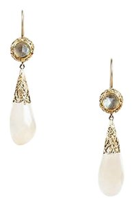 Other Anaconda 19k Gold Faceted Stone Embellished Baroque Drop Earrings