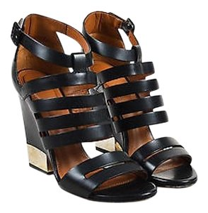 Givenchy Black Gold Tone Black,Brown,Gold,Silver Sandals