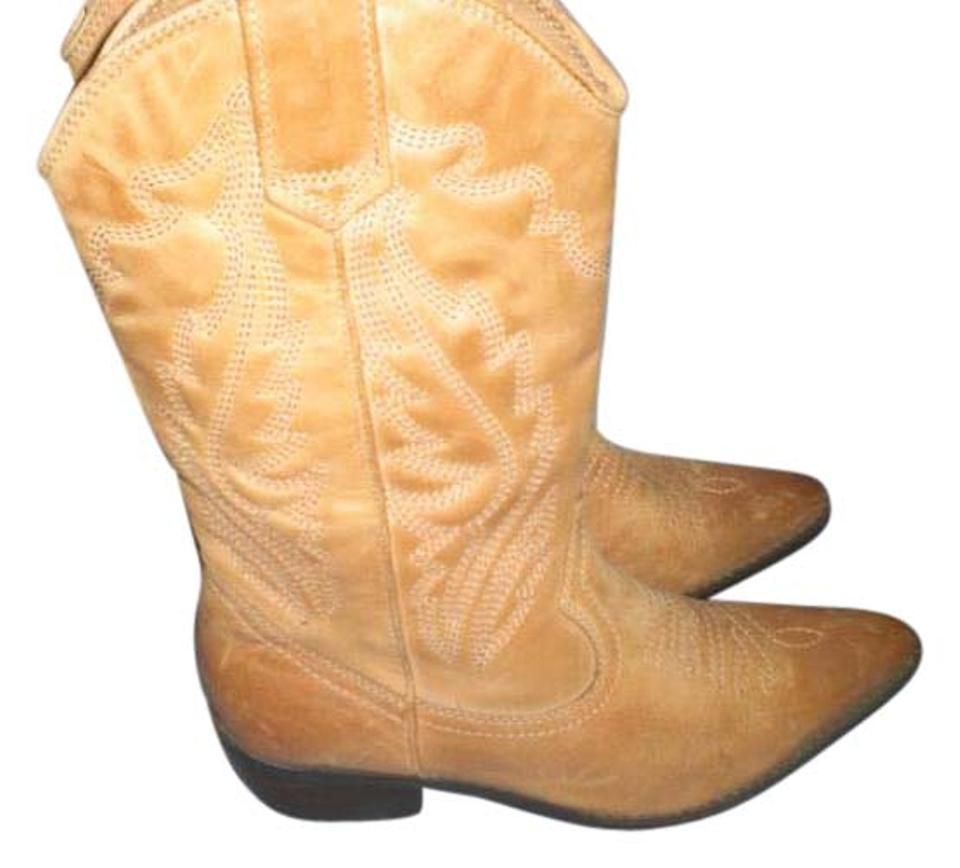 5d004e4ee28 ALDO Tan Leather Cowboy Genuine Leather Boots/Booties Size US 5.5 Regular  (M, B) 49% off retail