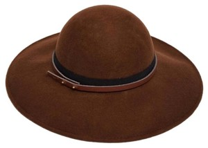 ASOS NEW ASOS Brown Black Felt Winter Wide Round Brim Hat