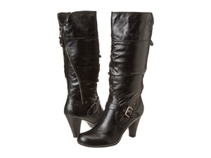 Guess Knee High Winter Slouchy Black Boots
