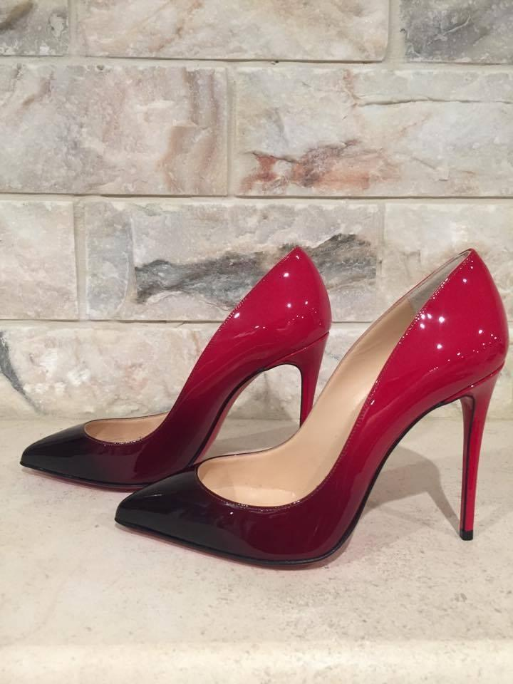 d8a744baef4f Christian Louboutin Black Pigalle Follies 100 Patent Red Degrade 35 Pumps  Size US 5 Regular (M