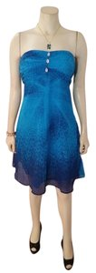 Free People short dress blue P2291 Size Medium on Tradesy