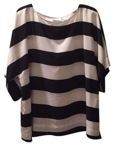 Chico's Top Black and white striped