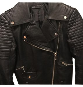 Zara Black lather jacket