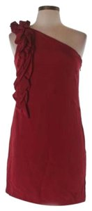 Karina Grimaldi One Shoulder Holiday Mini Silk Dress