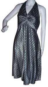 Black and Silver Maxi Dress by B. Moss New Holiday Wedding Cocktail Formal