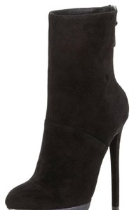 B Brian Atwood Suede Leather Black Boots
