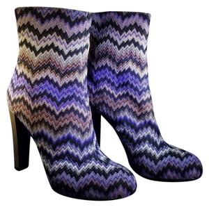 Missoni Bootie Leather Violet Boots