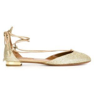 Aquazzura Light gold Flats