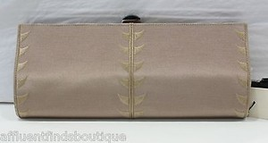 Other Giorgio Armani Sand Pochette Grosgrain Beiges Clutch