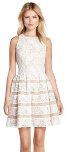 Aidan Mattox Lace Fitted Racer-back Dress