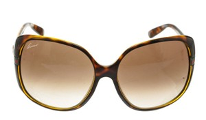 Gucci Gucci Brown Gold GG Embellishment Round Sunglasses