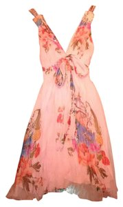 Traffic People short dress Pink Floral on Tradesy