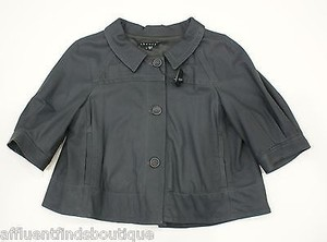Theory Slate Bolero Gray Jacket