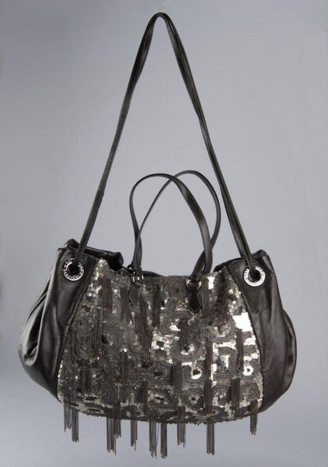 Brown Leather Bag Sequin Dark Chain Shoulder Valentino Black Fxt4qaCxw