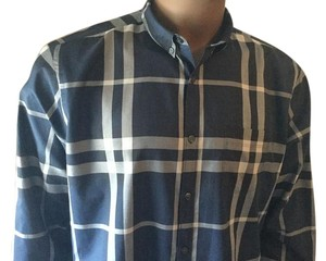 Burberry Brit Button Down Shirt Blue/White Multi