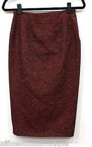Antonio Berardi Black Shimmery 24 Skirt Red