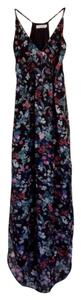 Black with floral design Maxi Dress by Lush