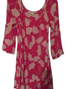 Diane von Furstenberg short dress Fushia /wht on Tradesy