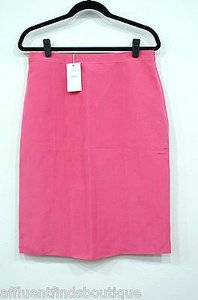 Armani Collezioni Raw Silk Career Or Skirt Pink