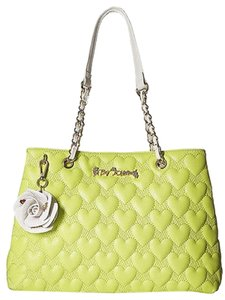 Betsey Johnson Heart Quilted Cross Body Bag