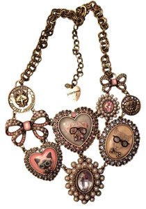 Betsey Johnson Betsey Johnson bib collar dog and cat necklace