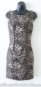 Rebecca Minkoff Freja Blackbrown Pleated Leopard Or 0 Dress