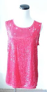 DKNY Sequin Top Fuchsia
