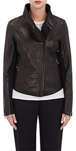 Barneys New York Blk Leather Jacket