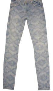 7 For All Mankind Seven Aztec Skinny Jeans-Light Wash