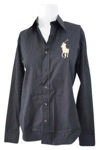 Ralph Lauren Black Label Button Down Shirt Black
