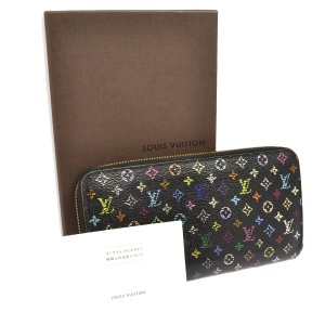 Louis Vuitton ZIPPY WALLET MONOGRAM MULTI COLOR BLACK VIOLET M60275 Clutch