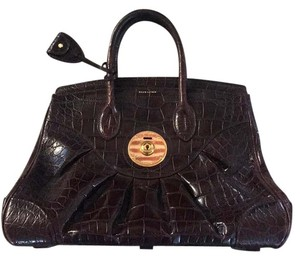 Ralph Lauren Collection Satchel in Wine