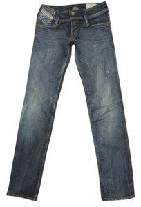 Diesel Matic Studs Made In Italy Straight Leg Jeans-Medium Wash
