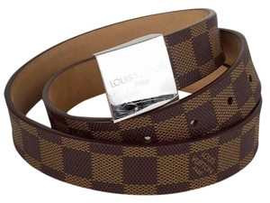 Louis Vuitton LOUIS VUITTON Unisex Damier Ebene Size 34 Belt!