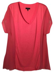 Rag & Bone & Sheer Chanel New York T Shirt Orange/coral
