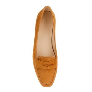 J.Crew Suede Loafers Flat Penny Brown Flats