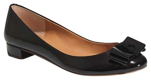 J.Crew Patent Leather Bow Work Black Flats