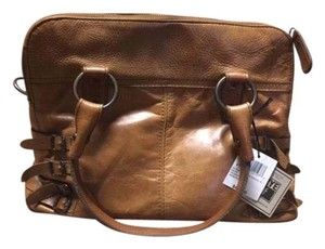 Frye Leather Belted Details Satchel in Whiskey
