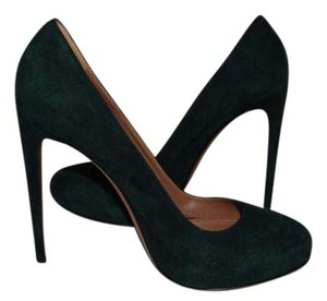 ALAÏA Alaia Black Suede Laser Cut GREEN Pumps