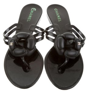 Chanel Jelly Camellia Sandals