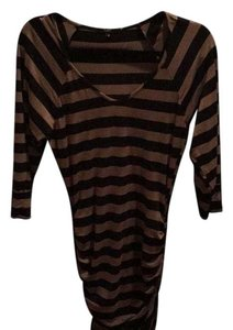 Tart short dress Black and Brown Stripe on Tradesy